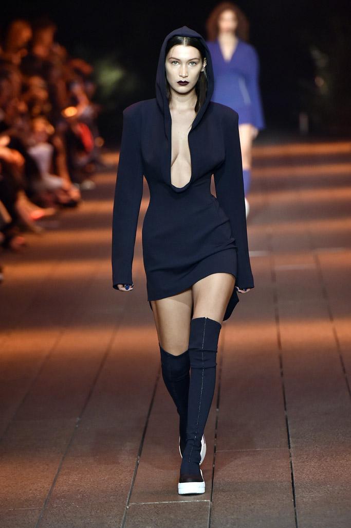 Bella Hadid on the spring '17 runway