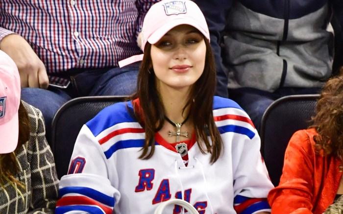 Bella Hadid Rangers Game