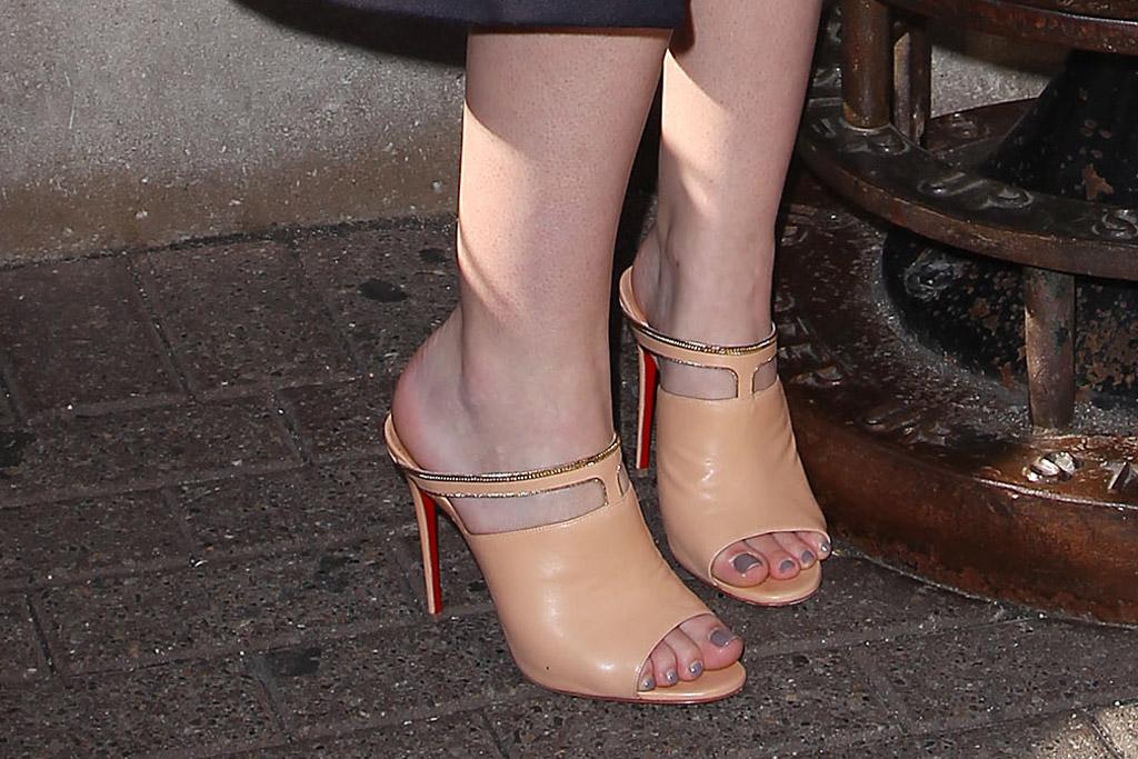 October 2016: Dakota Fanning's Christian Louboutin mules.