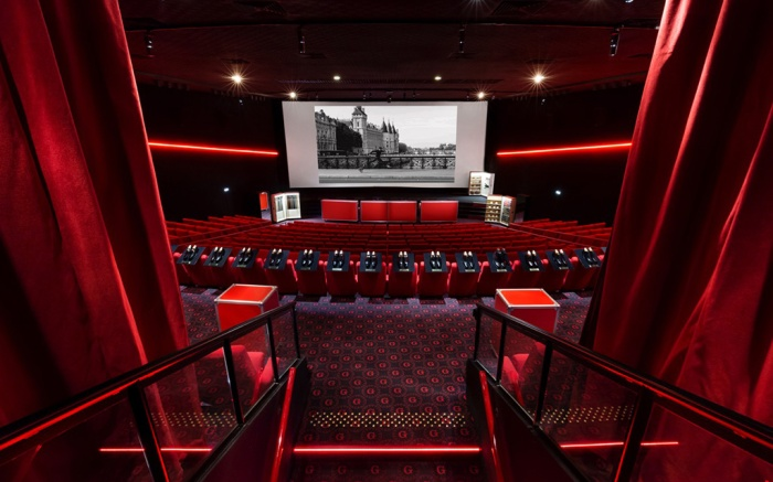A rendering of the J.M.Weston pop-up cinema