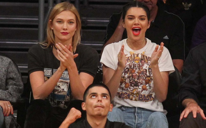 Karlie Kloss Kendall Jenner Lakers Game