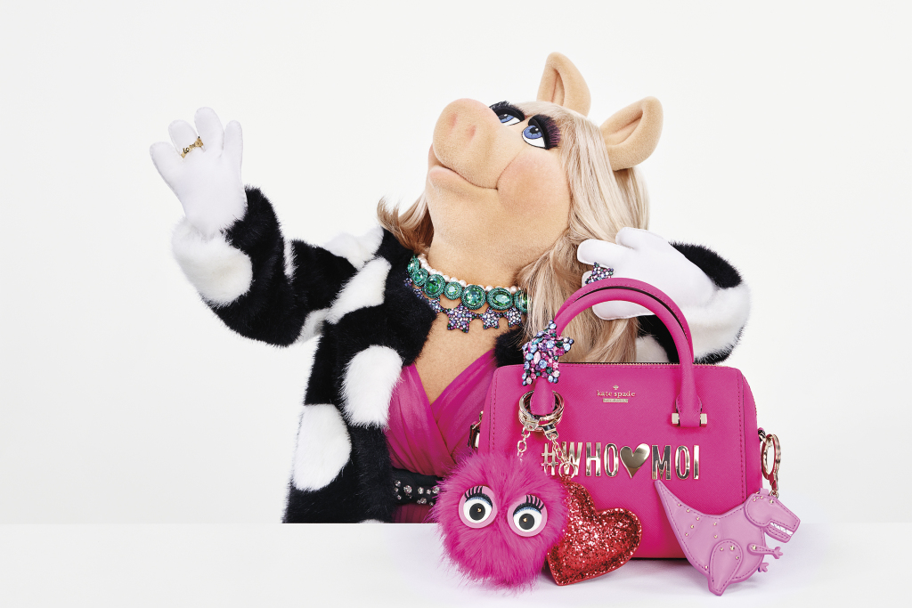 Miss Piggy stars in the Holiday Collection Ad Campaign