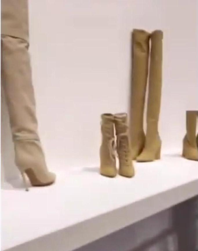 kim kardashian west yeezy showroom