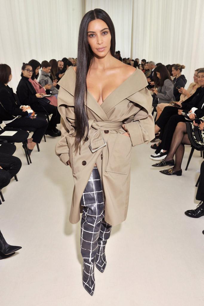 kim kardashian west no makeup balenciaga