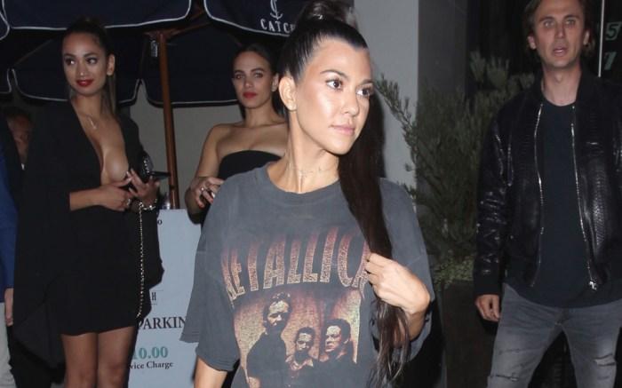Kourtney Kardashian Kanye West Concert