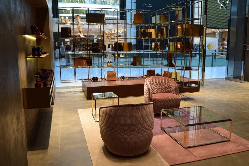 Inside the Dubai store.