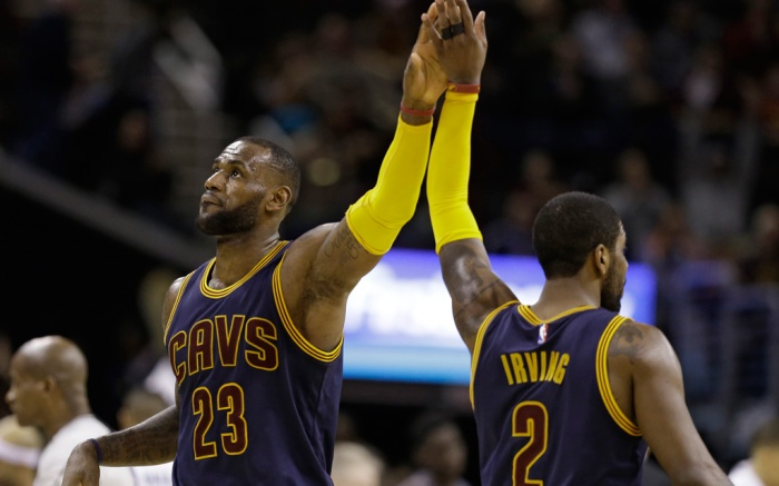 LeBron James Kyrie Irving Cleveland Cavaliers