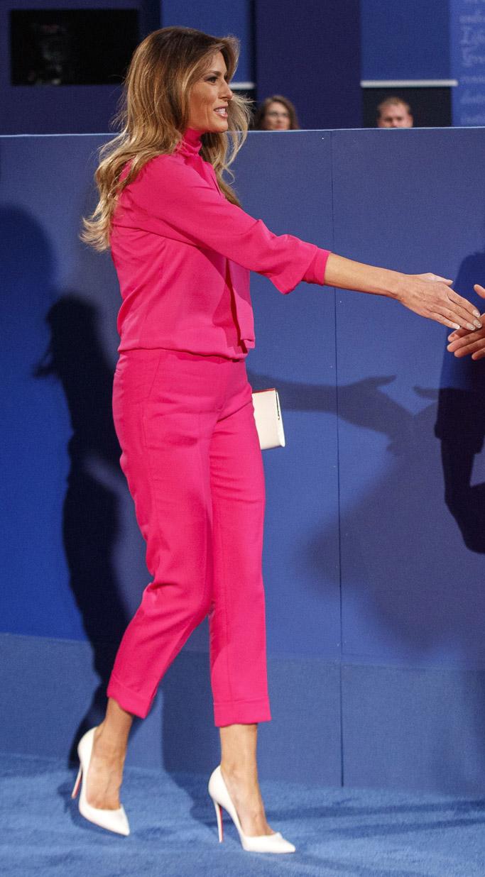 melania trump bill clinton debate