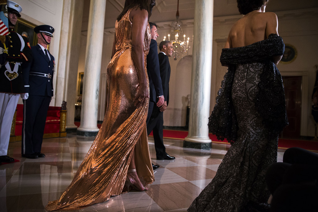 Michelle Obama White House State Dinner Versace