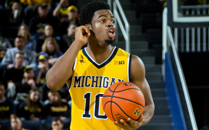 Michigan Derrick Walton Jr. NCAA Basketball