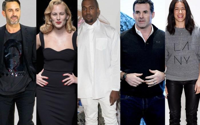 Kanye West, Charlotte Dellal, Kevin Plank, Rebecca Minkoff, Marc Jacobs