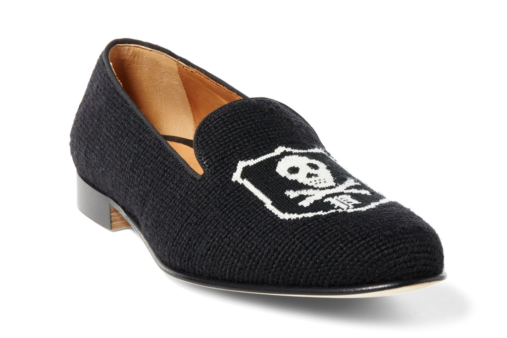 Ralph Lauren Mens Skull Slippers