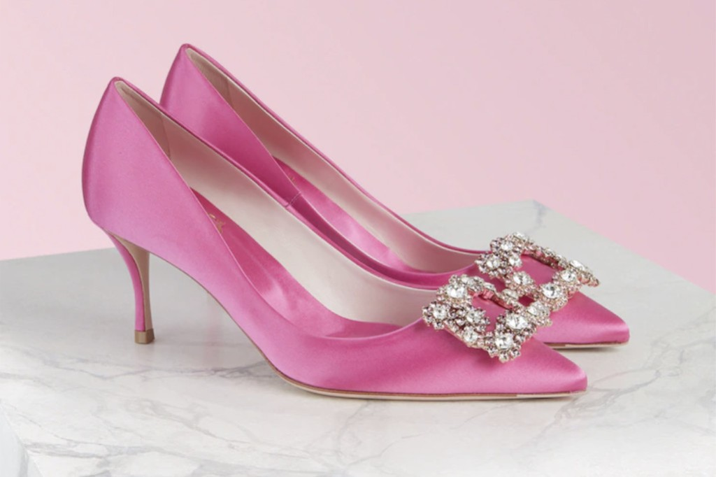 roger vivier heels, roger viver bca, pink shoes for bca