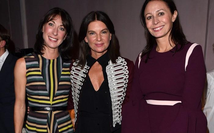 Samantha Cameron, Natalie Massenet and Caroline Rush Burberry show, London Fashion Week