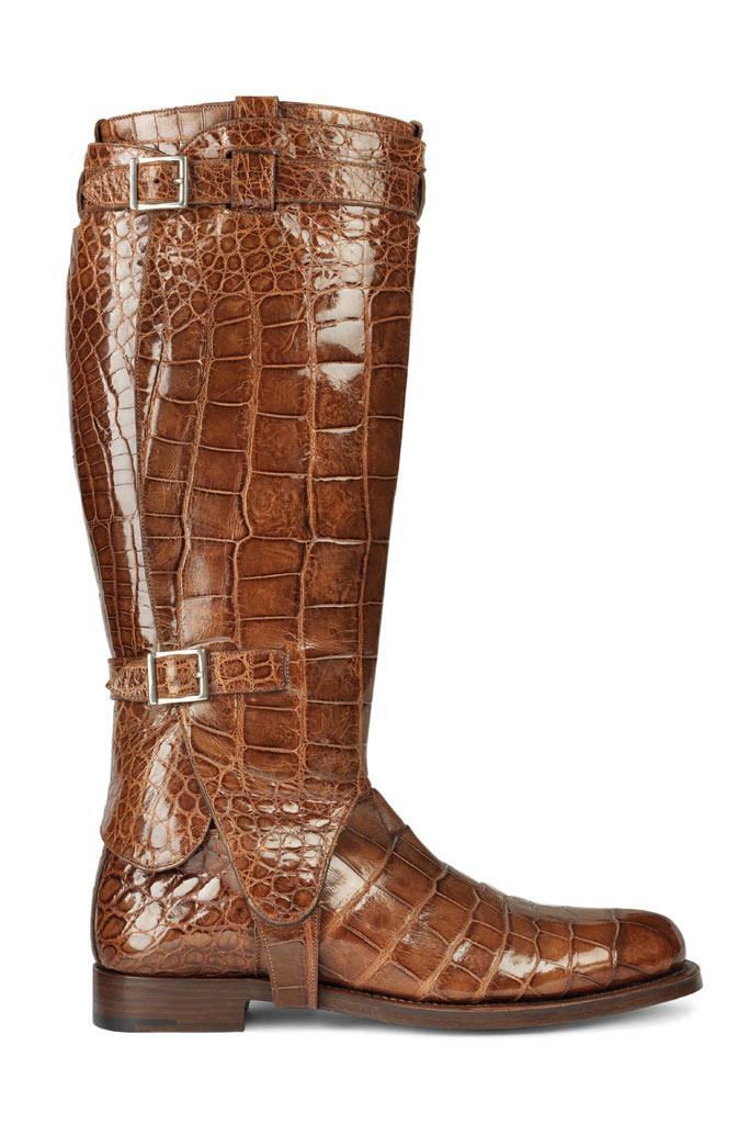 Santoni archive alligator polo boot