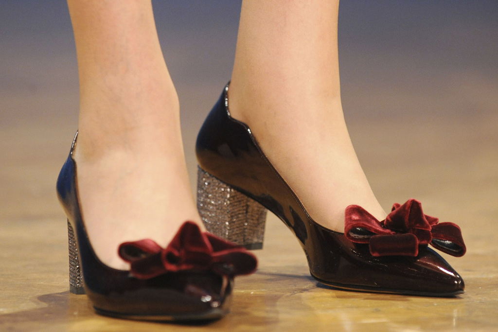 Theresa May Shoes Conservative Party Conference