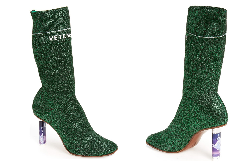 Vetements Green Sock Boots