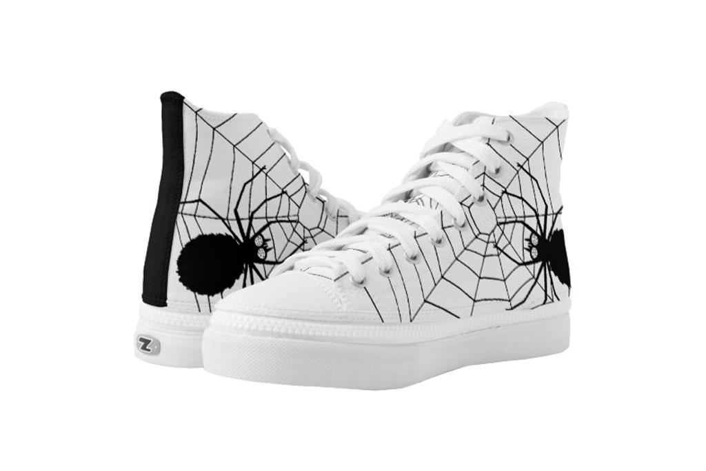 zazzle spider web sneakers