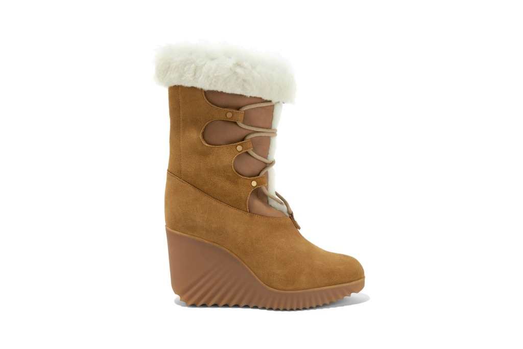 Chloé Shearling-trimmed Boot