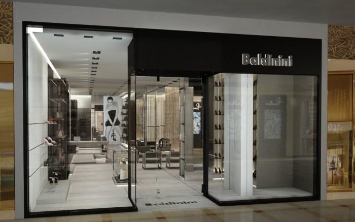 Baldinini's flagship at the Brickell City Center, in Miami.