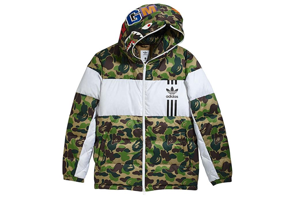 A Bathing Ape x Adidas ID96 Down Jacket