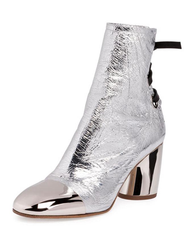 Proenza Schouler silver boots