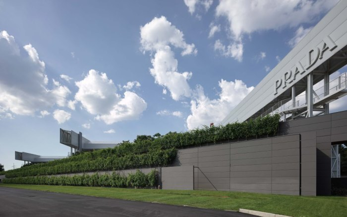 Prada's state-of-the-art industrial complex in tuscany's Valvigna.