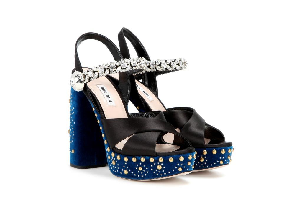 Miu Miu Embellished Sandal