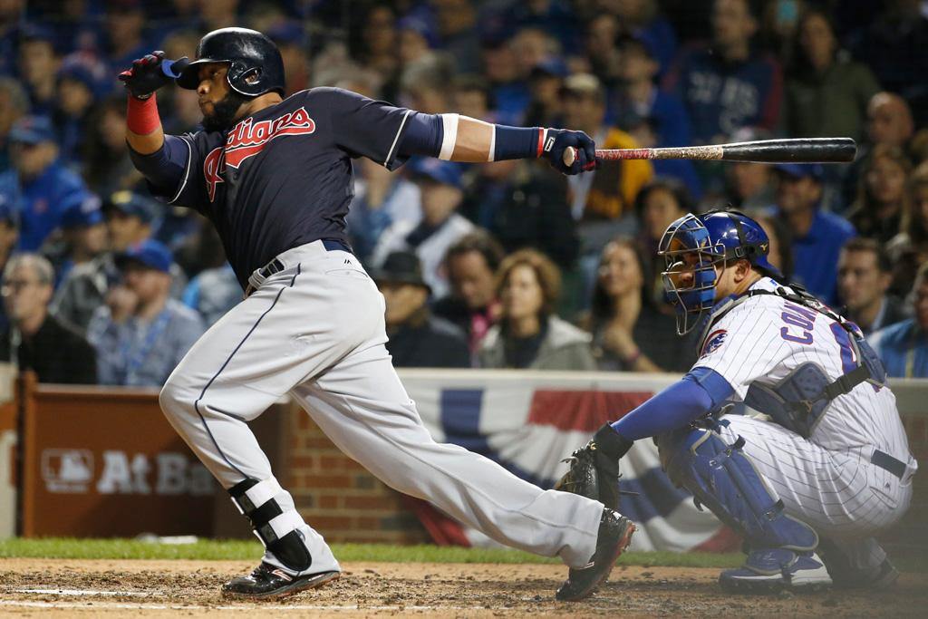 Carlos Santana Cleveland Indians New Balance Game 4 2016 World Series