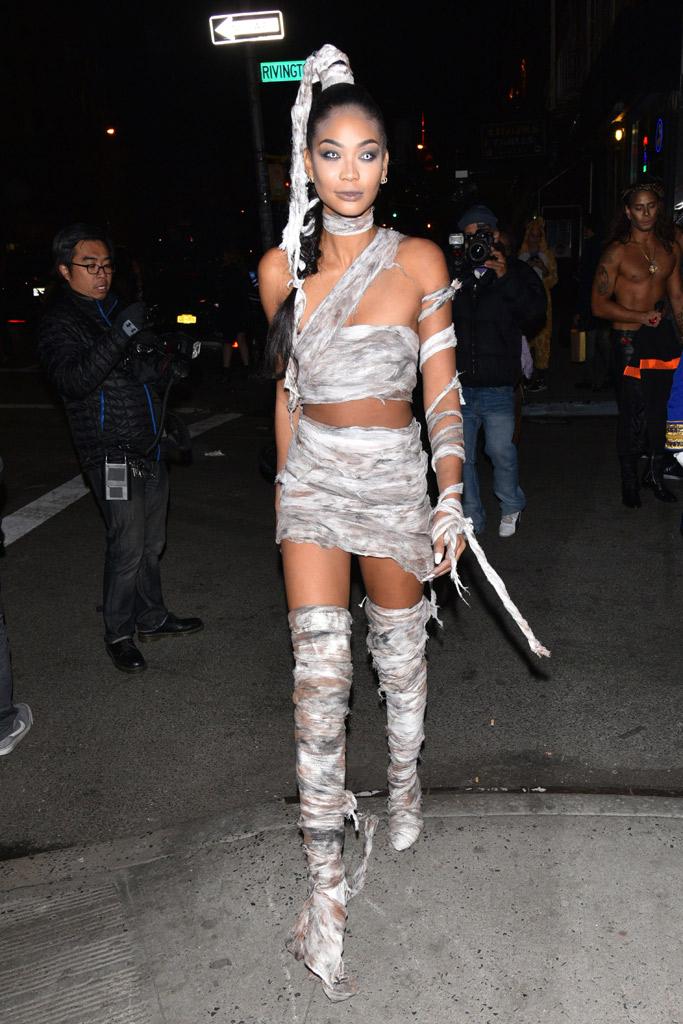 Chanel Iman Heidi Klum Halloween