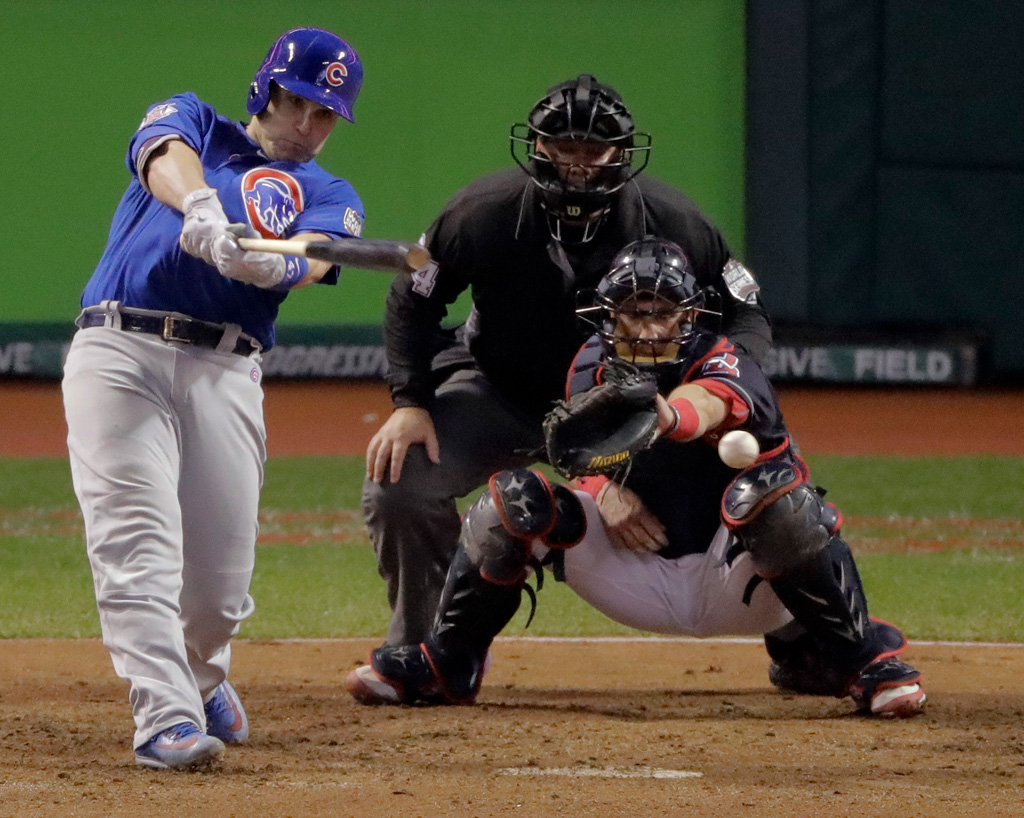 Miguel Montero Nike Game 7 2016 World Series Chicago Cubs
