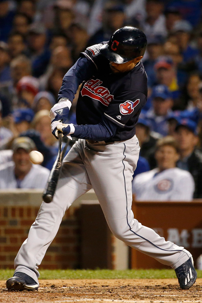 Coco Crisp of the Cleveland Indians Adidas Game 3 2016 World Series