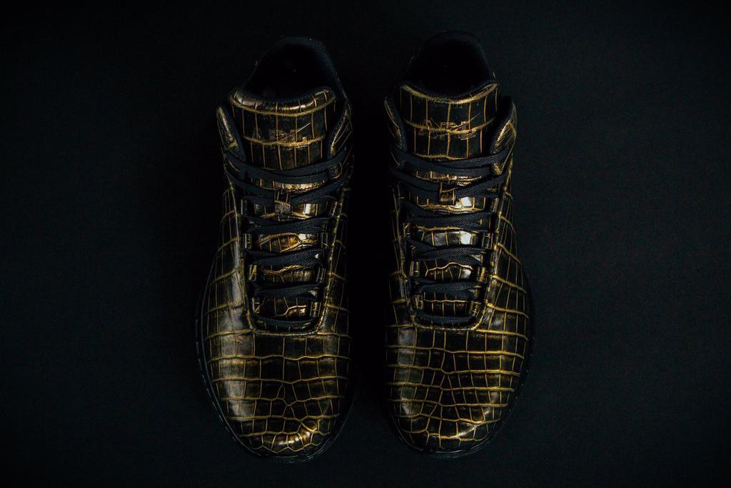 APL 24K Crocodile Skin Sneakers