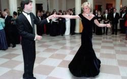 princess diana fashion exhibition john travolta