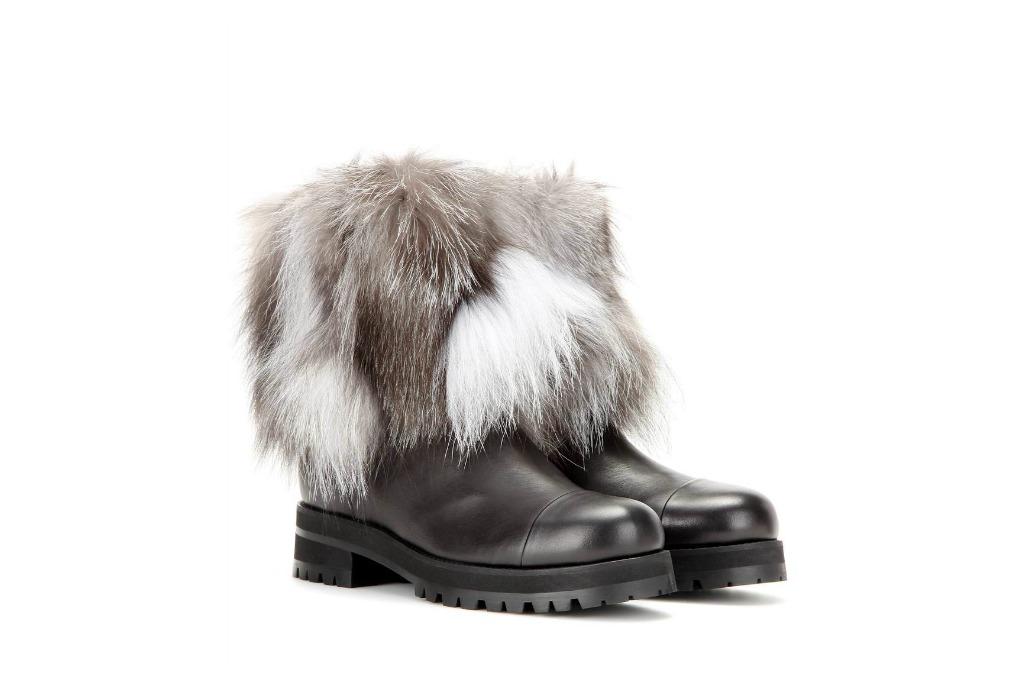 Jimmy Choo Fur Leather Boot