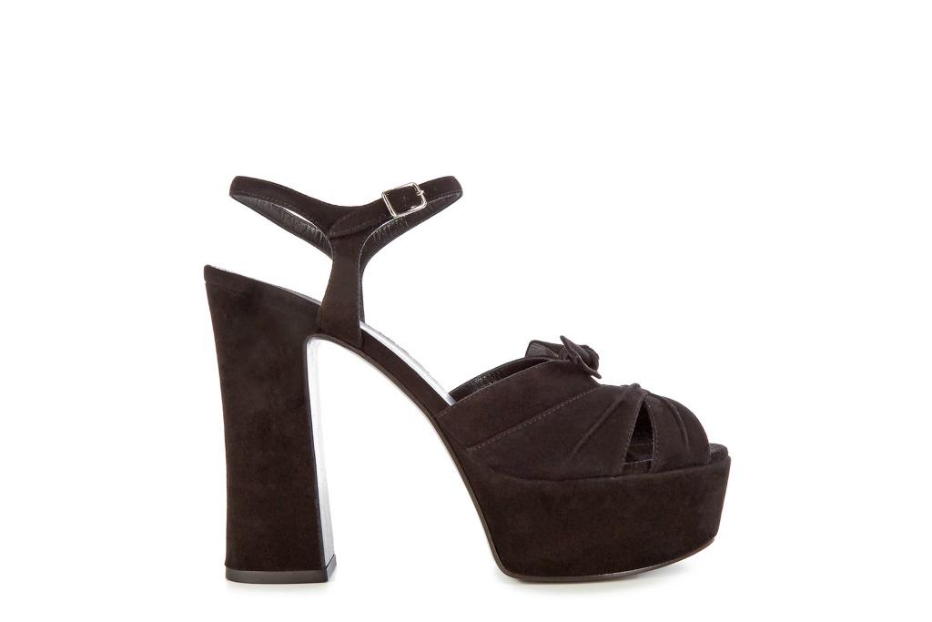 Saint Lauren Suede Platform Sandals