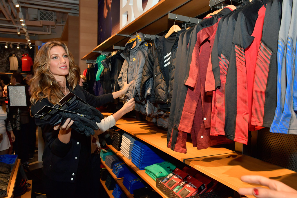 Gisele Bundchen Under Armour Boston Brand House