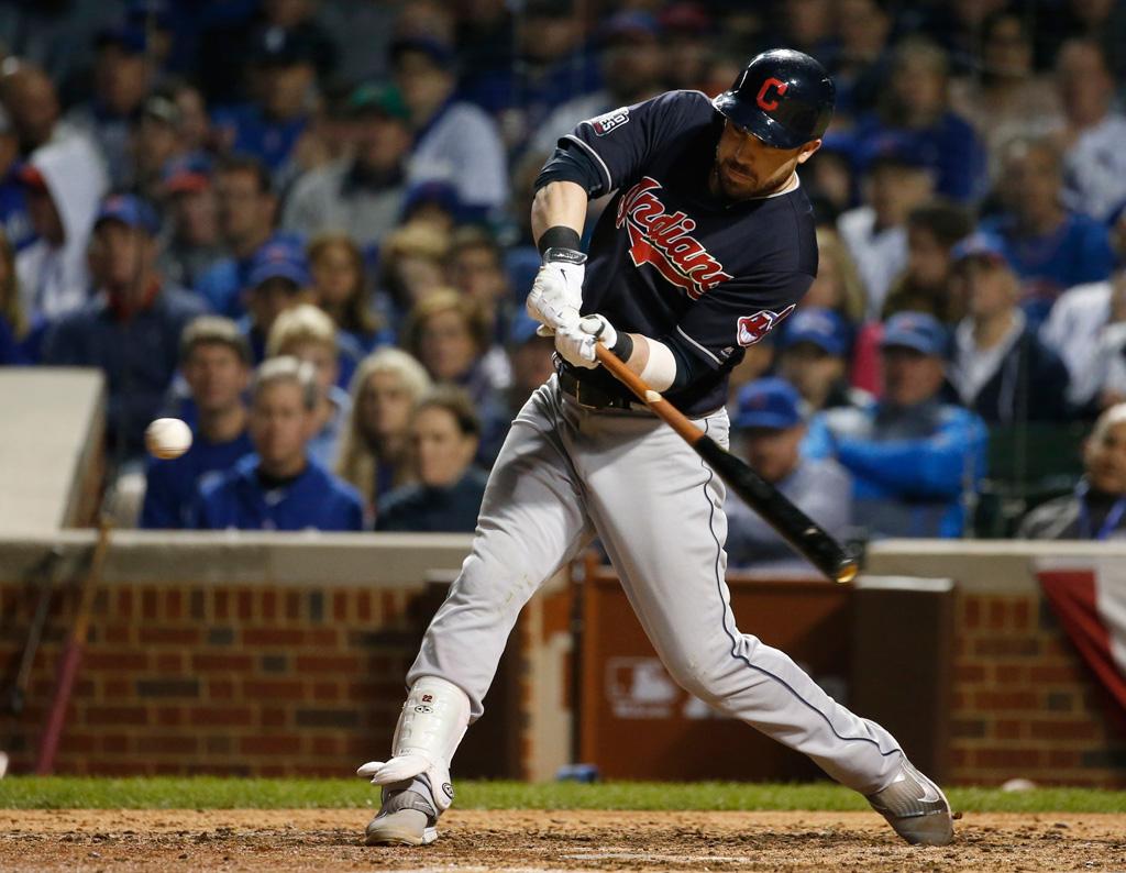 Jason Kipnis Cleveland Indians Nike Game 4 2016 World Series