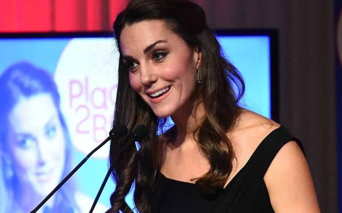 Kate Middleton attending an awards ceremony in London.