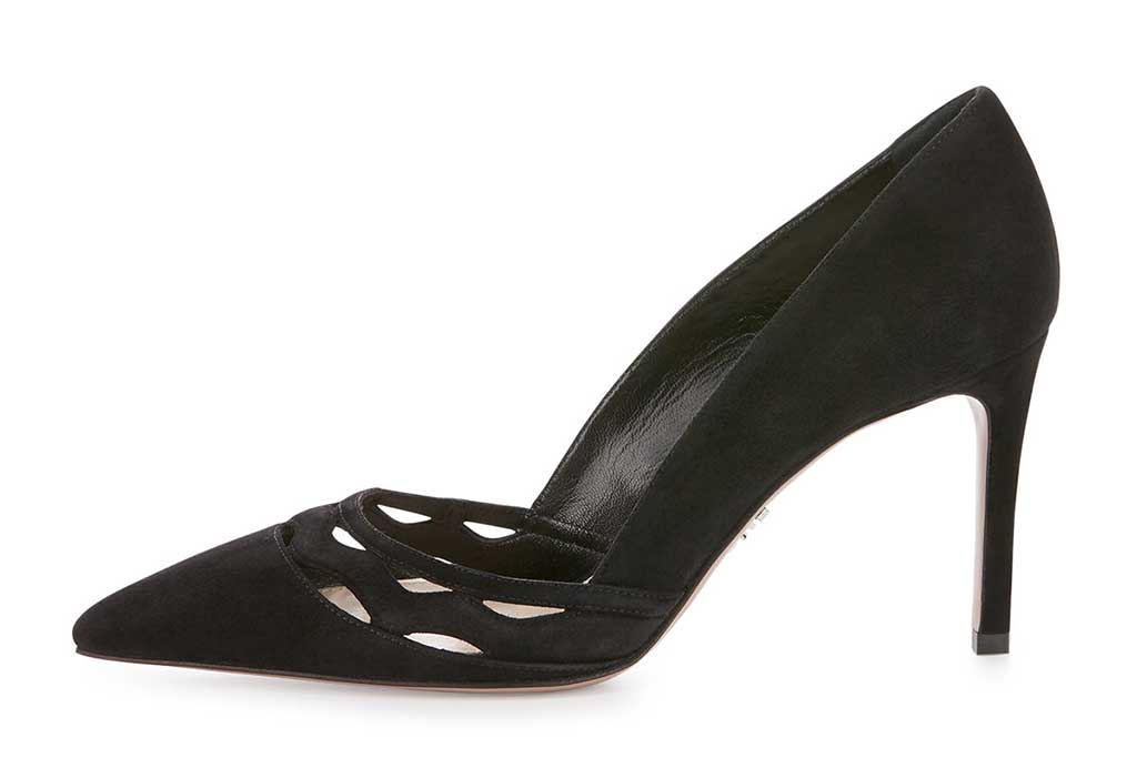 Prada's cutout wave pumps last seen at Saks Fifth Avenue for $445.