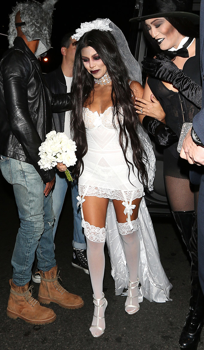 Kourtney Kardashian in Giuseppe Zanotti for Halloween