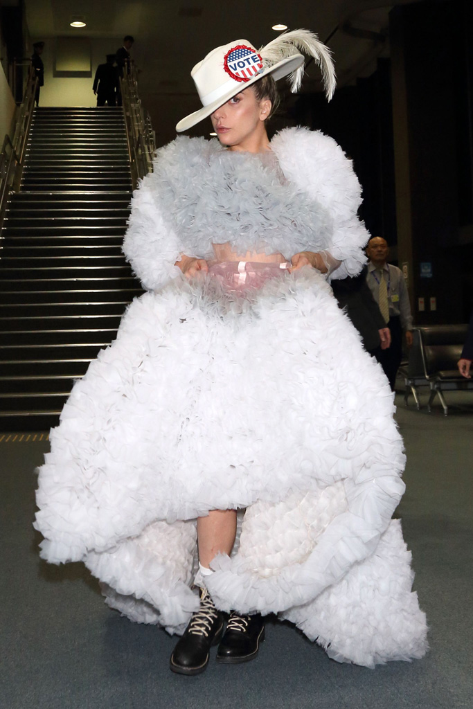 Lady Gaga Suffrage Outfit