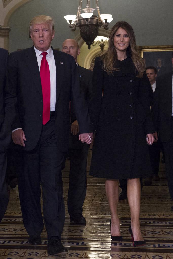Donald Trump Melania Trump Congress Visit