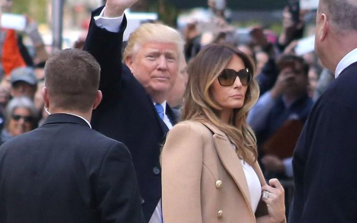 Donald Trump Melania Trump Voting