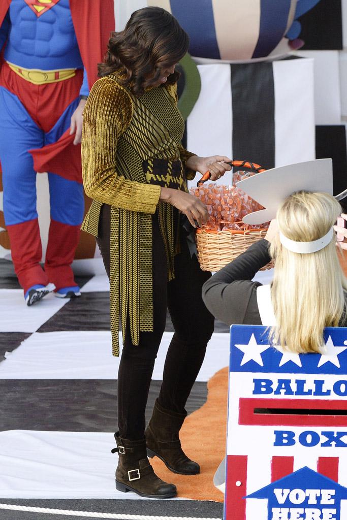 Michelle Obama Halloween Jimmy Choo Boots
