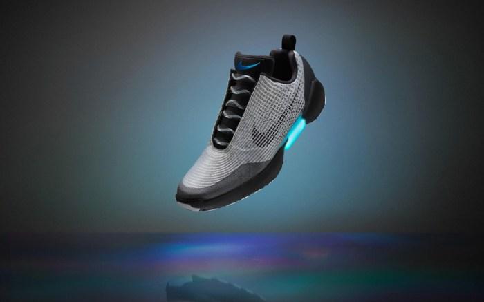 Nike HyperAdapt 1.0 metallic silver black white