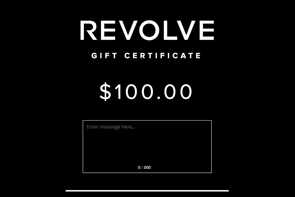 Revolve Gift Certificate
