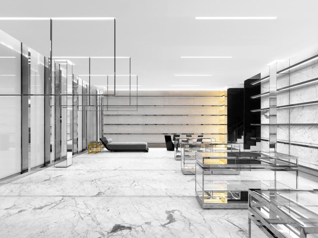 The Saint Laurent store in the Miami Design District.