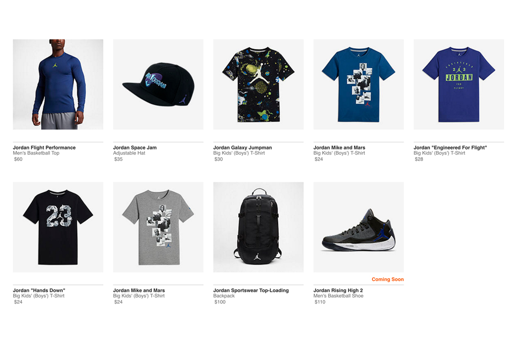 Jordan Brand 'Space Jam' Holiday Collection