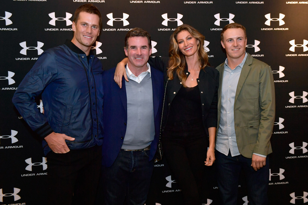 Tom Brady Kevin Plank Gisele Bundchen Jordan Spieth Under Armour Boston Brand House